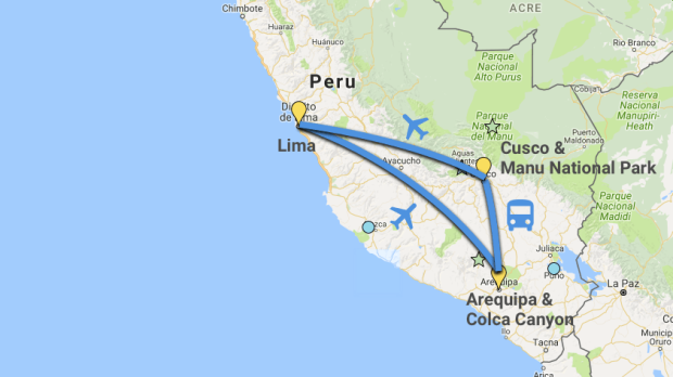 3 week Peru itinerary